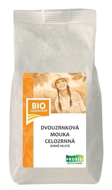 Dvouzrnková mouka celozrnná jemně mletá BIO 25 kg BIOHARMONIE